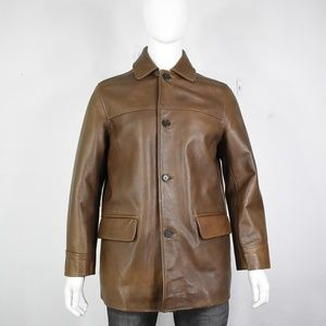 J Crew leather jacket S worn 1x mint new button